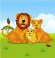 lion family vector image