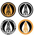 oil derrick logo vector image