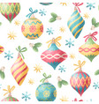 seamless christmas decoration pattern vector image