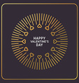 Decorative Circle Frame with Hearts Happy vector image