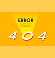 404 error page not found zero light graphic vector image vector image