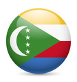 A badge in colours of the comoros flag vector image vector image