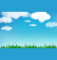 abstract blue sky blurred gradient background vector image vector image