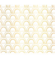 abstract seamless gold foil arches pattern vector image vector image