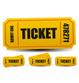 admit one tickets 4 compositions editable vector image