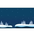 At night christmas landscape winter vector image vector image