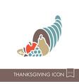 autumn cornucopia icon harvest thanksgiving vector image vector image