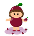baby in a burgundy plum suit vector image vector image