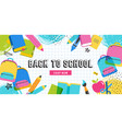 back to school concept banner and background vector image vector image