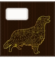 Background with the golden retriever vector image