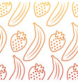 banana and strawberry delicious seamless pattern vector image