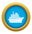 big ship icon blue isolated vector image vector image