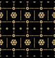 black christmas pattern background with golden vector image vector image