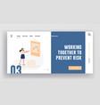 business finance crisis website landing page vector image vector image