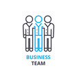 business team concept outline icon linear sign vector image vector image