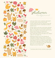 cartoon style autumn concept vector image vector image