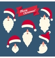 Christmas clothes collection of Santas hats with vector image vector image