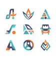colorful flat design transport logo vector image vector image