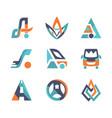 Colorful flat design transport logo