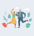 dancing old couple together vector image