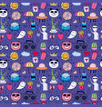 Doodle cartoon seamless pattern background