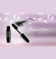 fashion design makeup cosmetics product templat vector image vector image