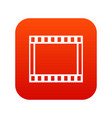film with frames movie icon digital red vector image vector image