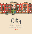 Flat design modern urban landscape and city