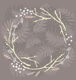 forest wreath vector image
