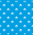 hamburger pattern seamless blue vector image vector image