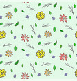 hand drawn colorful floral seamless pattern vector image