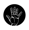 hand human symbol isolated icon vector image