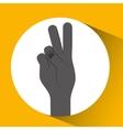 hand language design vector image