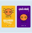 happy halloween invitation design with spider vector image