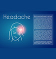 headache linear young asian vector image vector image