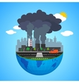 Industry earth concept for vector image vector image