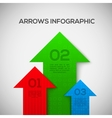 Infographic with 3D arrows vector image vector image