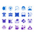 insomnia color silhouette icons set vector image vector image