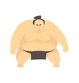 Japanese Fat Sumo Martial Arts Fighter Fighting vector image