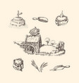 mill stuffsketches rural life vector image vector image