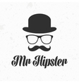 Mister hipster icon vector image