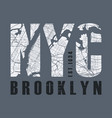 new tork brooklyn t-shirt and apparel vector image vector image