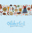 Oktoberfest elements set vector image vector image