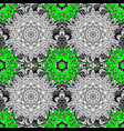 oriental style arabesques green pattern green vector image