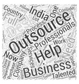 outsourcing india Word Cloud Concept vector image vector image