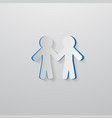 People Holding Hands Cut From Paper vector image vector image