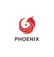 phoenix bird with star logo design vector image