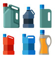 plastic canister with handle vector image vector image