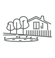 private house isolated icon suburban building vector image vector image