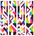 rainbow color geometric seamless pattern vector image